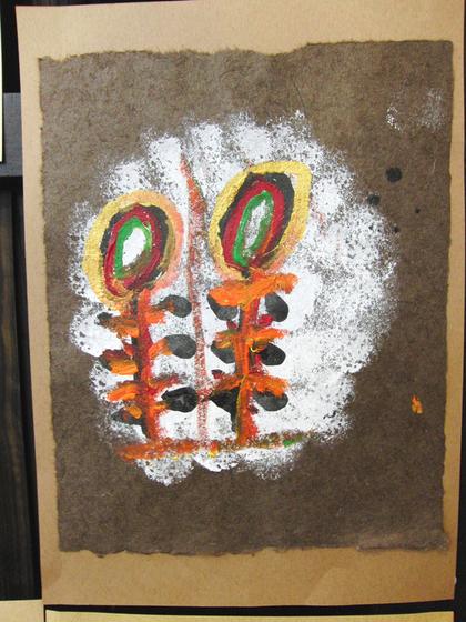 絵画 ~ トンパ文字から描く絵画 ~_e0222340_1551962.jpg