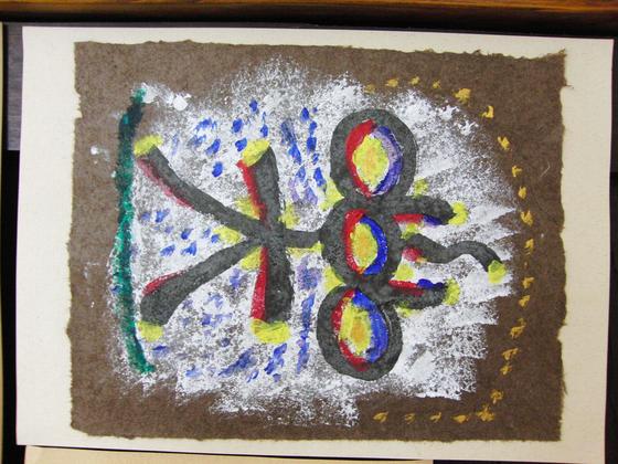 絵画 ~ トンパ文字から描く絵画 ~_e0222340_1552296.jpg