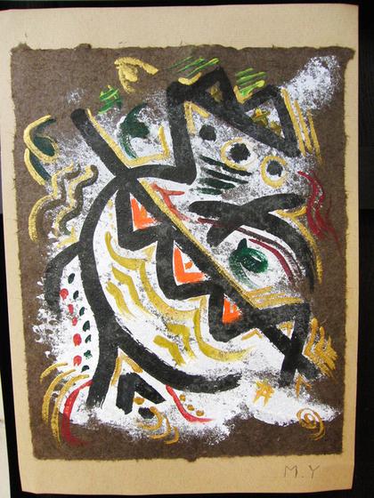 絵画 ~ トンパ文字から描く絵画 ~_e0222340_15532118.jpg