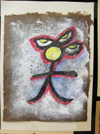 絵画 ~ トンパ文字から描く絵画 ~_e0222340_15542220.jpg
