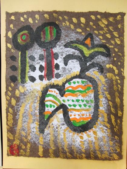 絵画 ~ トンパ文字から描く絵画 ~_e0222340_15554858.jpg