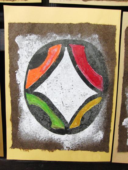 絵画 ~ トンパ文字から描く絵画 ~_e0222340_15561363.jpg