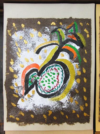 絵画 ~ トンパ文字から描く絵画 ~_e0222340_15563723.jpg