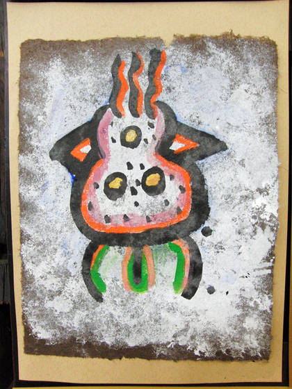 絵画 ~ トンパ文字から描く絵画 ~_e0222340_1557146.jpg