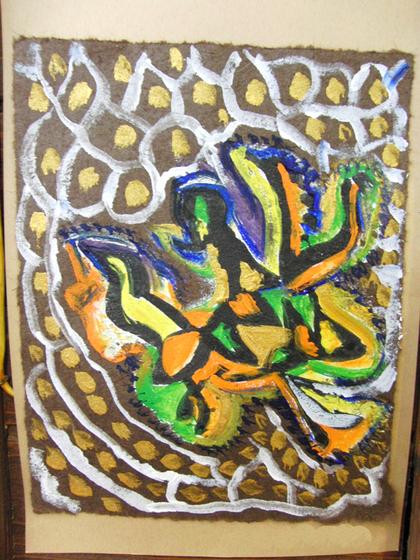 絵画 ~ トンパ文字から描く絵画 ~_e0222340_1559762.jpg