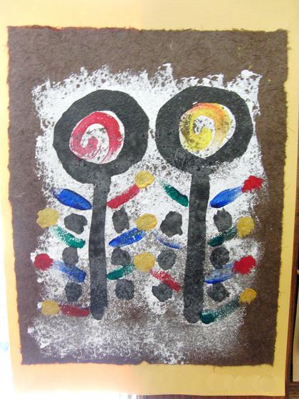 絵画 ~ トンパ文字から描く絵画 ~_e0222340_1605023.jpg