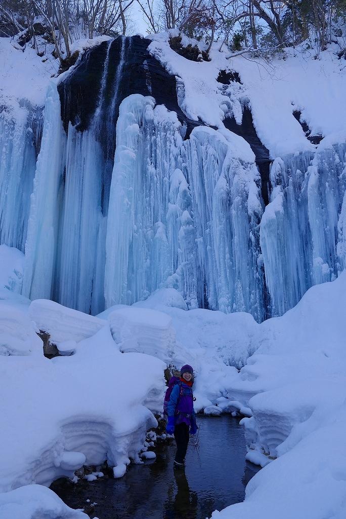 白老の氷瀑見物、2017.2.5-山北沢の滝編-_f0138096_15442188.jpg