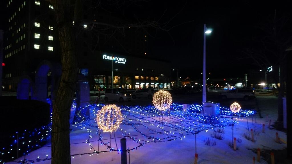 函館駅前のイルミネーション_b0106766_21075467.jpg
