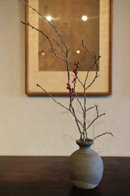 花だより 紅梅 統一新羅瓶_a0279848_17230737.jpg
