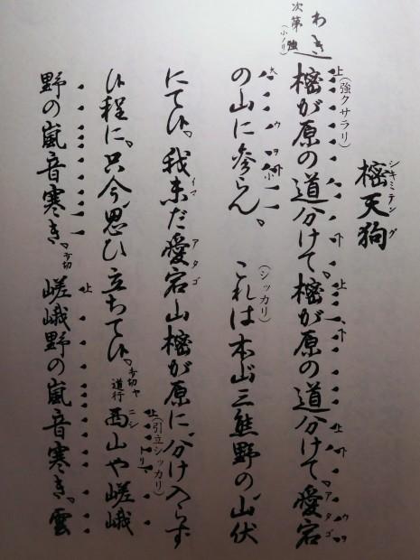 塩津能の會 (能「樒天狗」ほか) 2017年 2月11日 喜多六平太記念能楽堂_e0345320_01182323.jpg