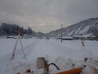 雪まつり会場準備始める_d0122374_22572382.jpg