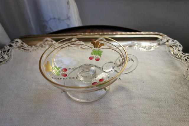 持ち手と台付き金彩入りデザートグラス 半額_f0112550_18561057.jpg