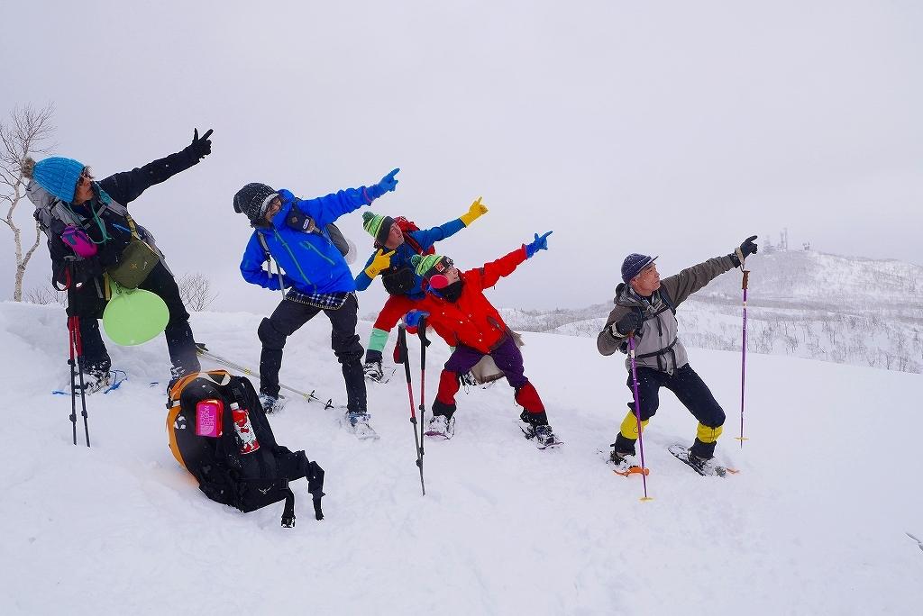 紋別岳から748mピークピストン、2017.2.14_f0138096_21450908.jpg