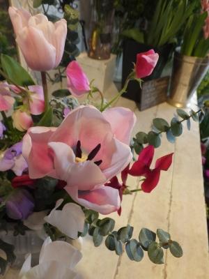 オークリーフ花の教室(山田さんと天艸さんの作品)_f0049672_18105981.jpg