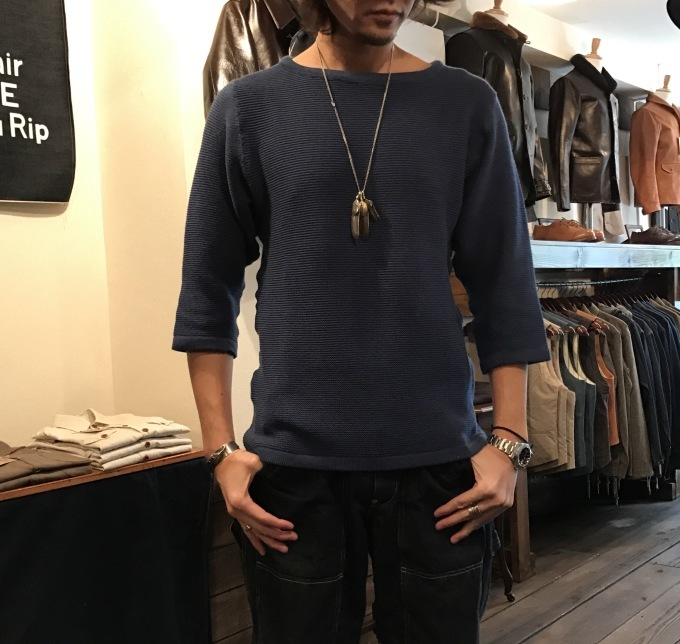 "DAPPER\'S ""3/4SLEEVE  SPRING KNIT\""_b0278148_13063698.jpg"