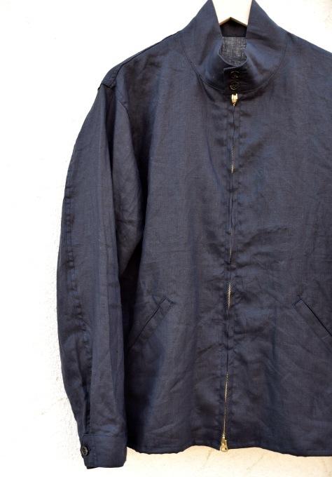 arbre 麻のスウィングトップ と 白いボタンダウンシャツ_d0334060_15052651.jpg