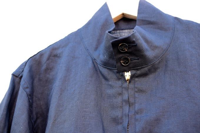 arbre 麻のスウィングトップ と 白いボタンダウンシャツ_d0334060_15052995.jpg