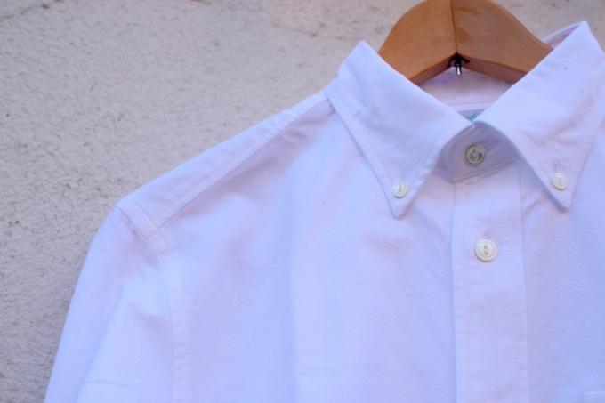arbre 麻のスウィングトップ と 白いボタンダウンシャツ_d0334060_15155957.jpg