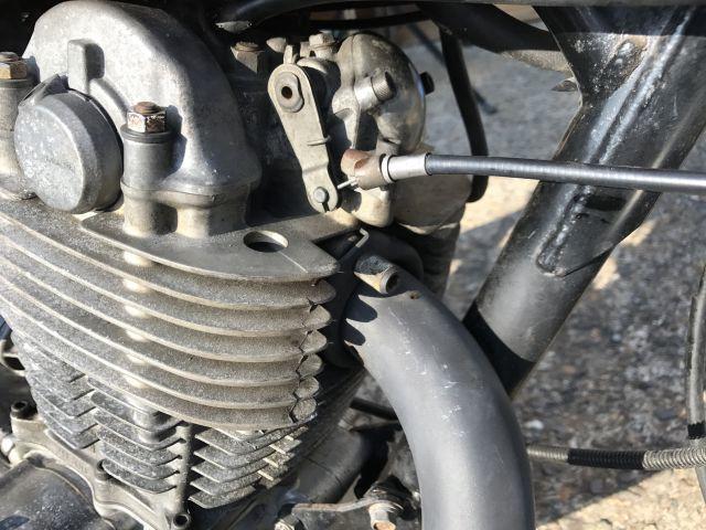 SR400 修理 エンジン載せ替え モクモクする!_a0164918_19193365.jpg