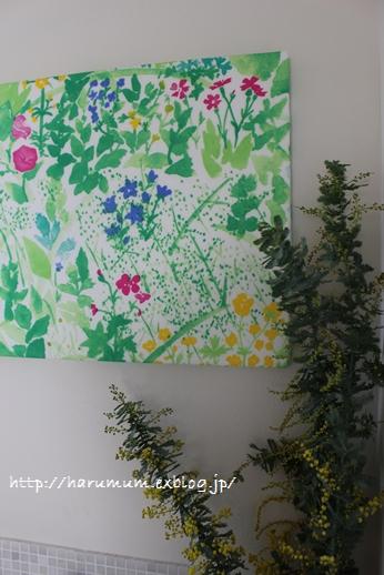 春の花とファブリックパネル_d0291758_21513068.jpg