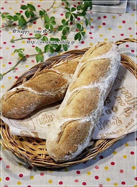 豚の生姜焼き丼弁当とリンゴ酵母でバゲット♪_f0348032_18405796.jpg