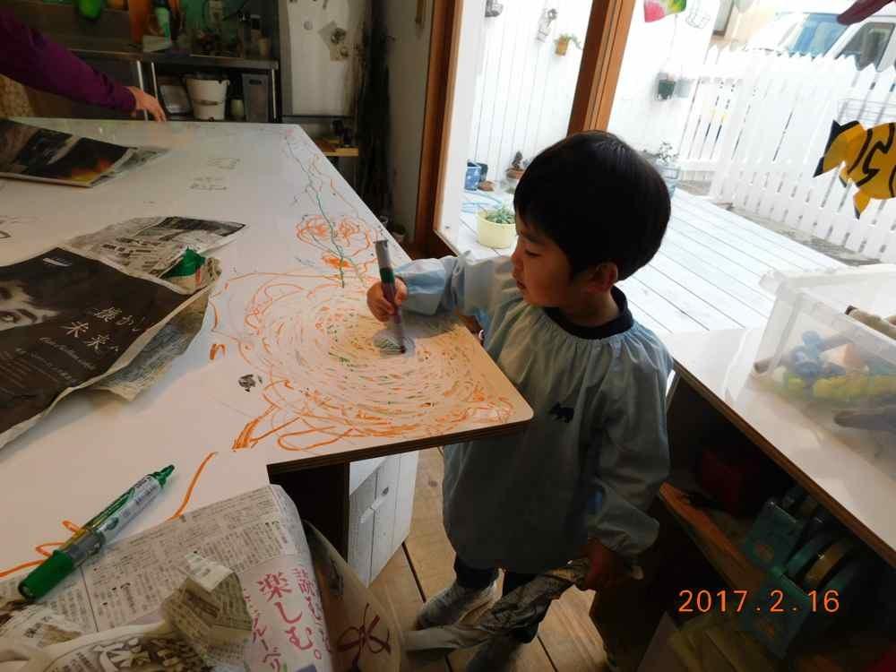 新聞紙の造形〜5歳児_d0076558_07571008.jpg