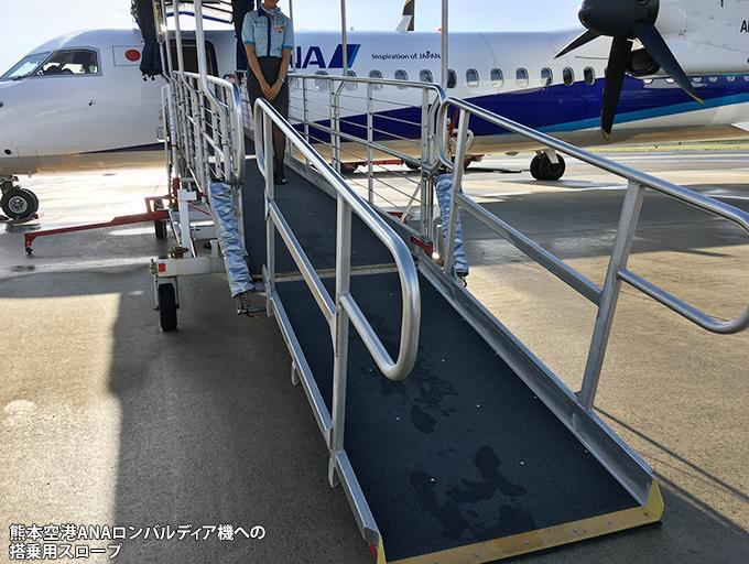 熊本空港でのロンバルディア機の搭乗用スロープ_c0167961_22591446.jpg