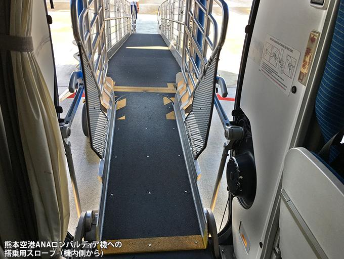 熊本空港でのロンバルディア機の搭乗用スロープ_c0167961_2259435.jpg