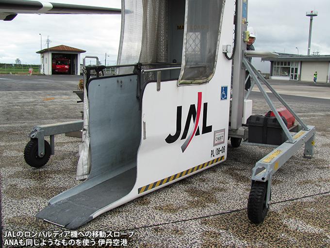 熊本空港でのロンバルディア機の搭乗用スロープ_c0167961_2304252.jpg
