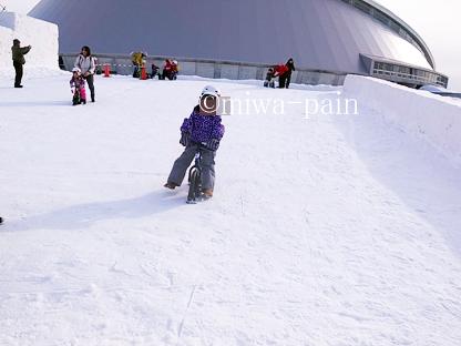 【札幌雪まつり帰省②】つどーむ会場は雪遊び天国!_e0197587_20213444.jpg