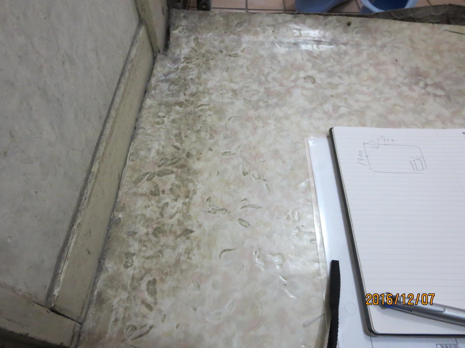 脱衣室、傷んだ床の補修リフォーム_f0140817_01270736.jpg