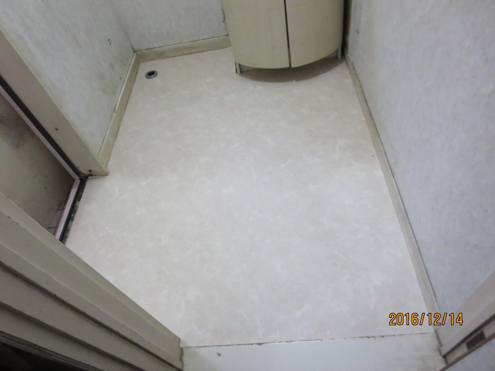 脱衣室、傷んだ床の補修リフォーム_f0140817_01325379.jpg
