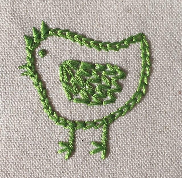 手刺繍風の可愛い鶏刺繍♪_c0316026_18113817.jpg