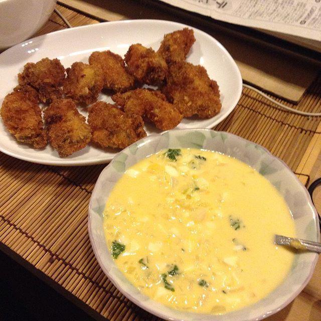 一銭洋食と牡蠣フライ。_a0334793_07001063.jpg