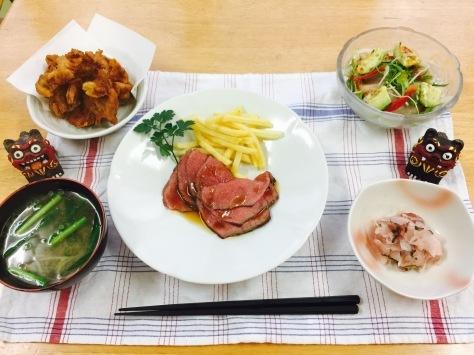 2月20日 今夜のディナーは、ローストビーフ🎵_b0158746_02370989.jpg