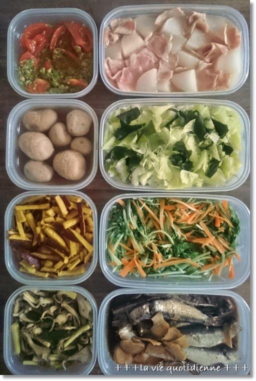今週の常備菜☆今週もダンナさんが作ってくれたアレと私が作った7品。_a0348473_08574595.jpg