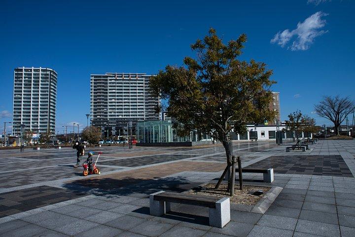 常緑街路樹がある駅前広場_d0353489_1420111.jpg