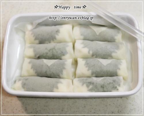 白はんぺんカニカマ大葉のミニ春巻き弁当と今夜はチキン南蛮♪_f0348032_18080150.jpg