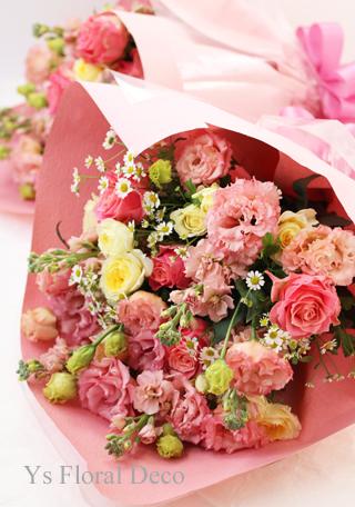 ご両親様贈呈用花束 ピンク系_b0113510_15013350.jpg