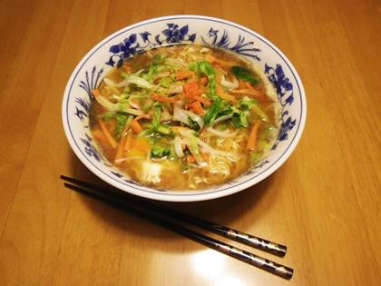 野菜ラーメンとナムル_b0312424_645729.jpg