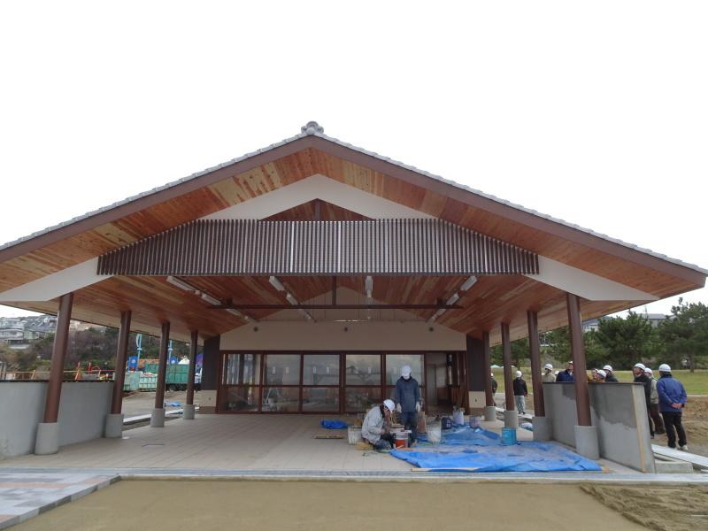 「しおさい楽習館」完成間近・・・せんなん里海公園_c0108460_20415936.jpg