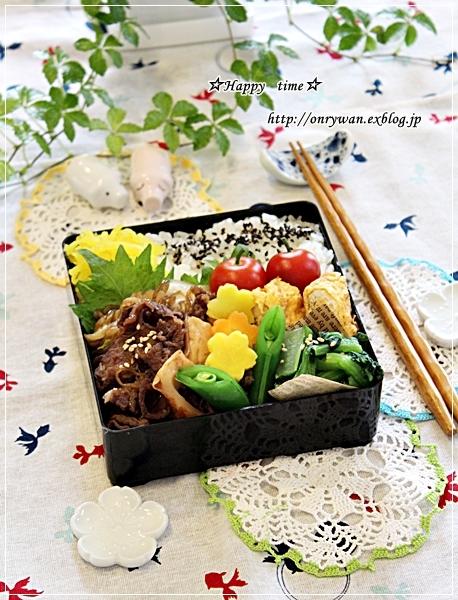 すき煮弁当とあさりと鶏肉の鍋で〆はラーメンで♪_f0348032_18455826.jpg