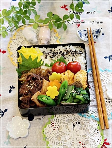 すき煮弁当とあさりと鶏肉の鍋で〆はラーメンで♪_f0348032_18460824.jpg