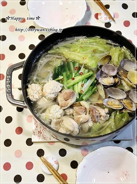 すき煮弁当とあさりと鶏肉の鍋で〆はラーメンで♪_f0348032_18463170.jpg