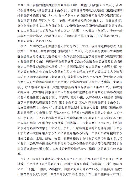 日弁連、共謀罪法案の国会上程反対の意見書_e0068696_08390264.png