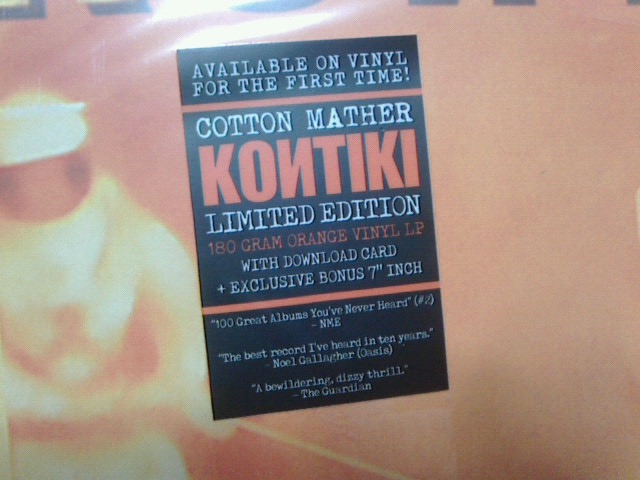 本日到着レコ〜 Kontiki / Cotton Mather_c0104445_16573913.jpg