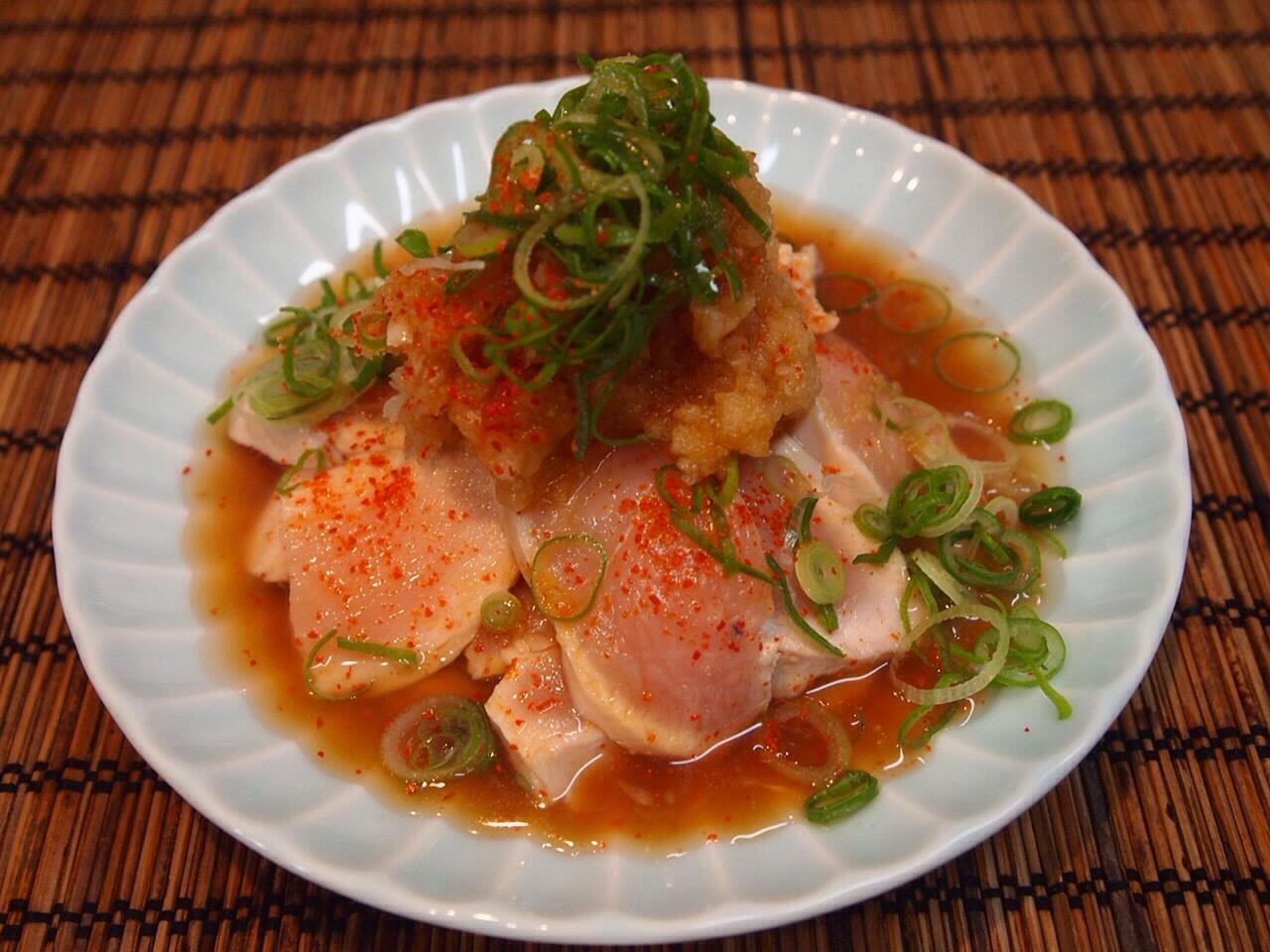 鶏胸肉のおろしポン酢_a0258686_06404496.jpg