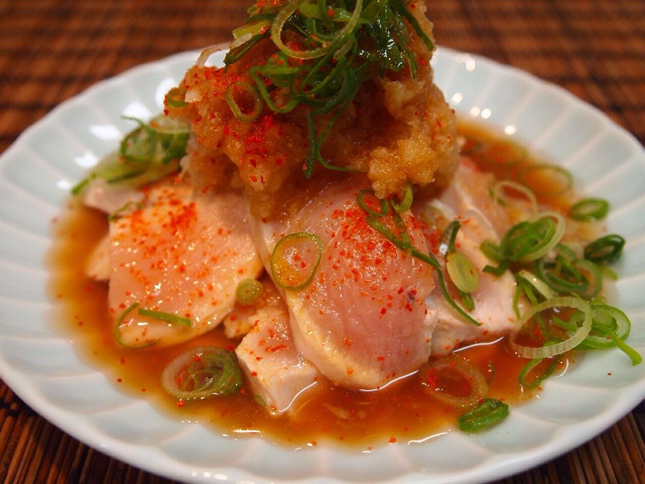 鶏胸肉のおろしポン酢_a0258686_06460497.jpg