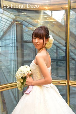 春のお花をいれたティアドロップブーケ 目黒雅叙園さんへ_b0113510_20132504.jpg
