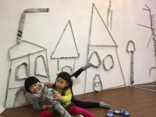 新聞紙棒で作ったよ☆2月の出張教室☆_b0215321_12121100.jpg